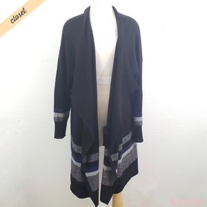 [Halogen] Black 100% Cashmere Cardi Wrap
